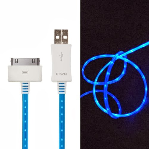 iPhone LED charger cable