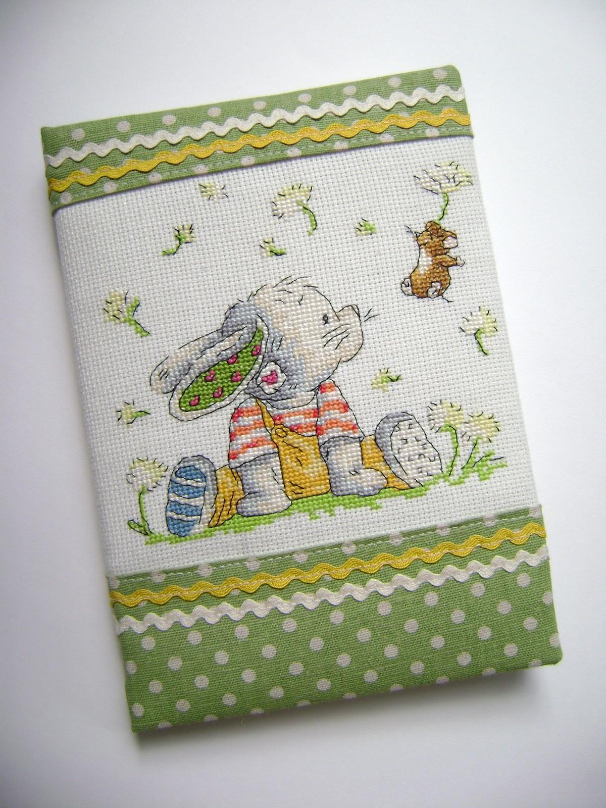 Вышивка для обложки блокнота