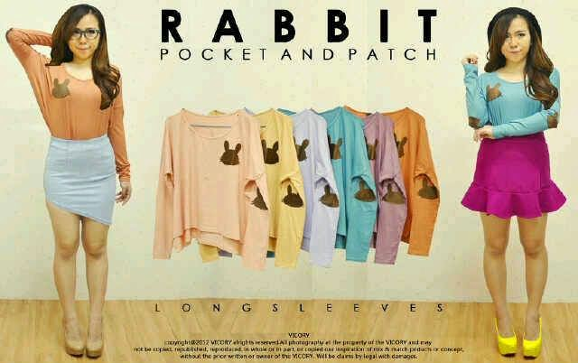 baju gambar kelinci, baju sexy, baju murah online, toko jual baju cewe