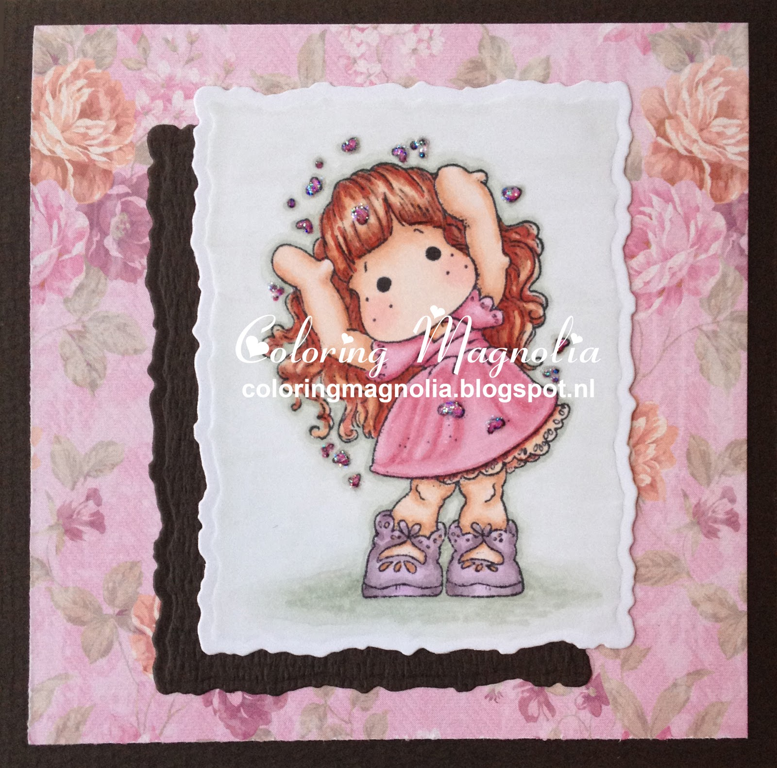 Coloring Magnolia Stamp 2013 Special Moments Collection - Love Love Love Tilda