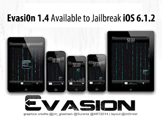 Evasi0n 1.4 for Jailbreaking iOS 6.1.2 (iDevices)