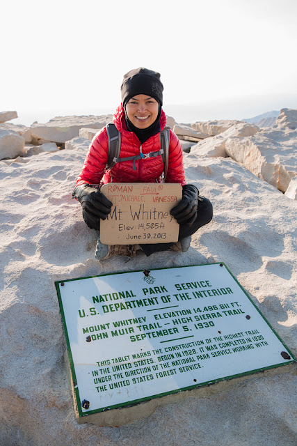 Vanessa Rojas at Mount Whitney Summit
