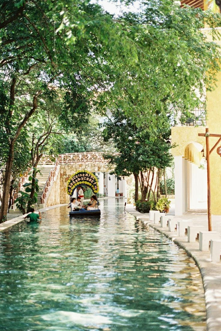 Canal in Playa del Carmen Mexico