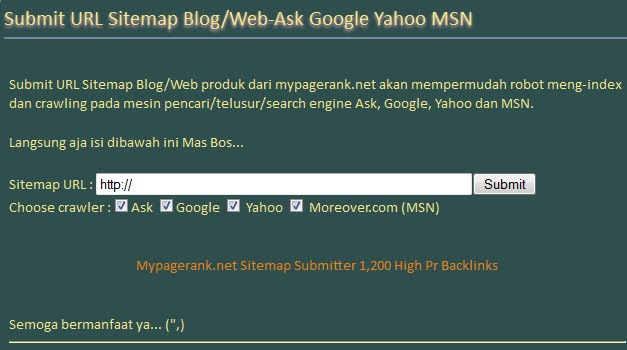 how to submit my site to search engines