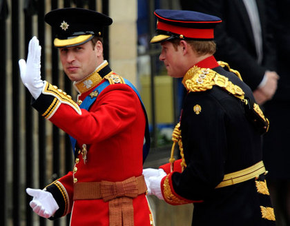 Princes William and Best Man Harry