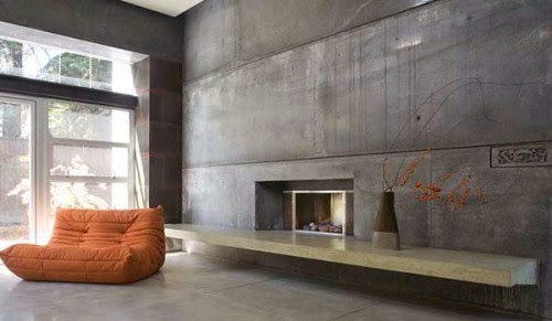 The Whole Space It Is Too Much, However One Or Two Concrete Walls (often  Imitations) Can Make The Fantastic Effect. First Some Inspiration.