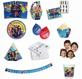 Comprar kit festa aniversário chiquititas 2013