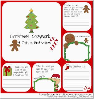 FREE Christmas Copywork
