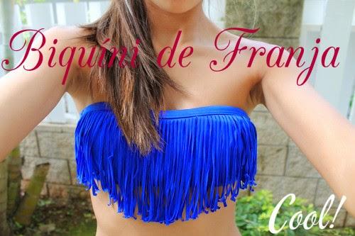 Biquínis de Franja, moda praia, biquíni franja azul
