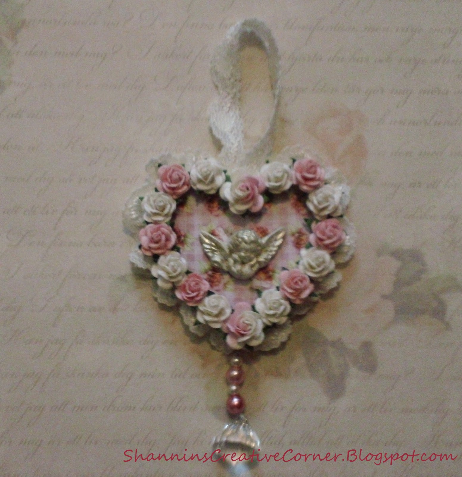 Shannins creative corner shabby chic ornament - Shabby chic christmas decorations to make ...