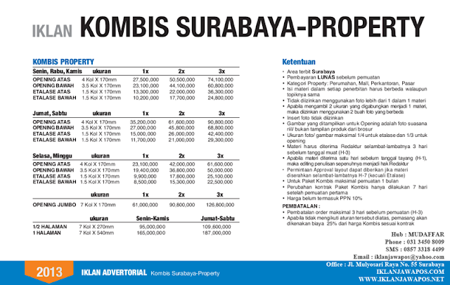 Jawa Pos Iklan Komunikasi Bisnis Surabaya Property