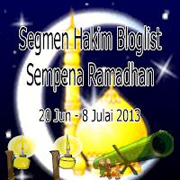 Segmen Hakim Bloglist Sempena Ramadhan