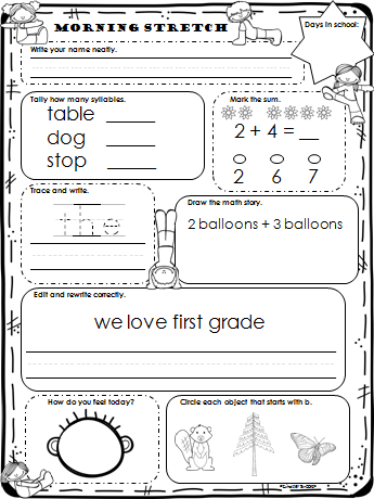 Worksheets Daily Morning Work 1st Grade forever first grade solving the morning work headache grade