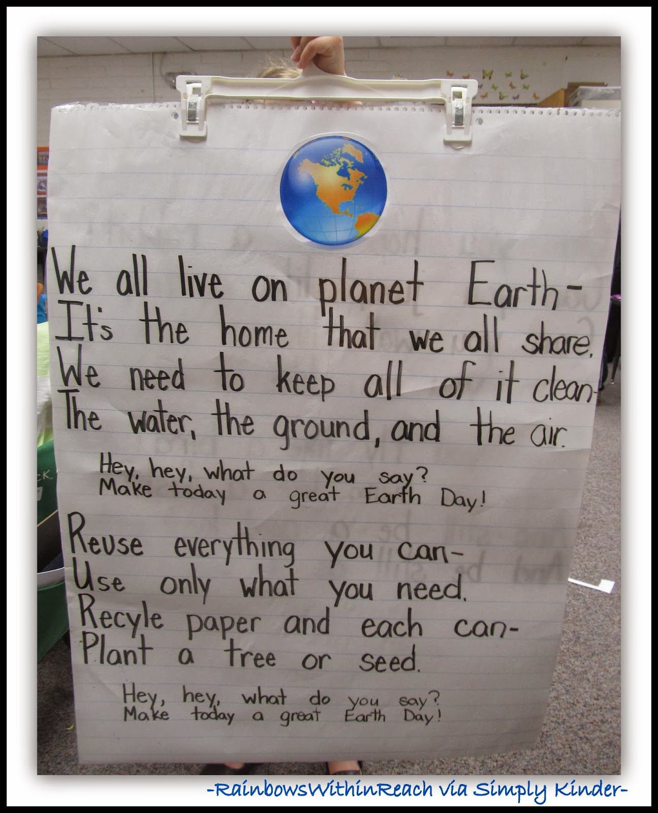 Earth Day Anchor Chart from RainbowsWithinReach via SimplyKinder