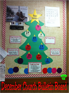 Christmas Bulletin Board Idea on Kims Kandy Kreations