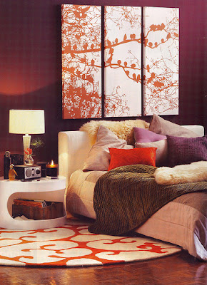 Id 39 zine interesting headboard designs for Brown and orange bedroom ideas