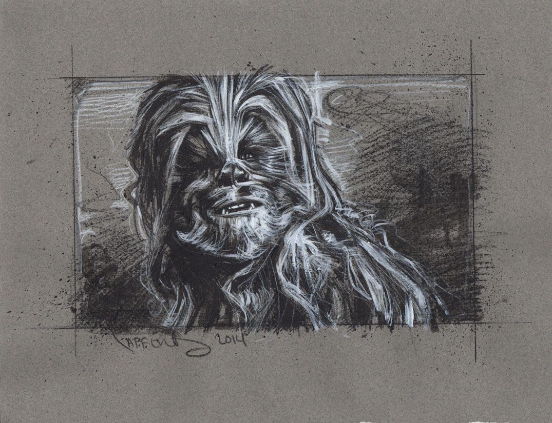 Chewbacca Drawing, Artwork is Copyright © 2014 Jeff Lafferty