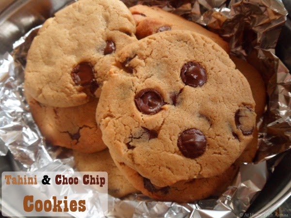 tahini chocolate chip cookies recipe | Halal Home Cooking