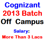 9th nov. cognizant 2013 batch off campus pimpri chinchwad college of engineering