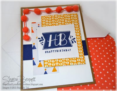Stampin Up Balloon Bash Card