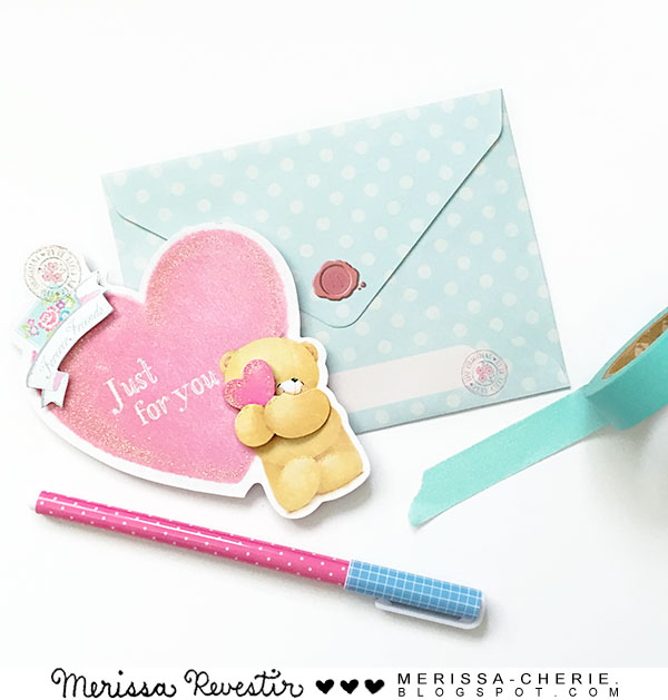 Merissa cherie stationery greeting card forever friends by hallmark when you open the card a mini envelope in polka dot blue pops up to reveal a tiny bear holding a heartuble aww and enough reason to buy m4hsunfo