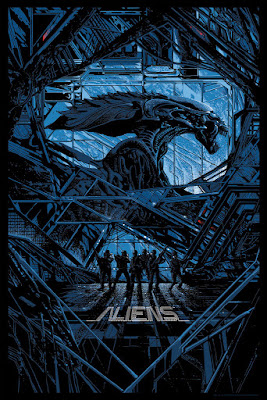 San Diego Comic-Con 2015 Exclusive Aliens Screen Print by Kilian Eng x Mondo