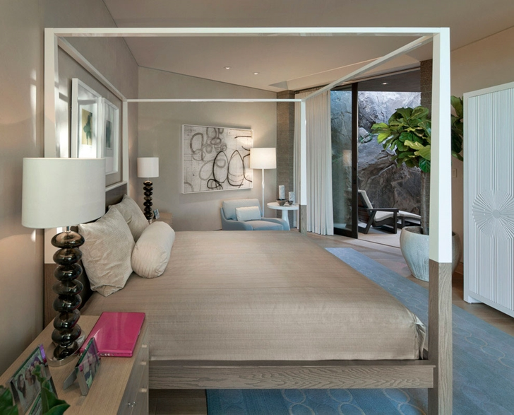 Bedroom in modern Dream home in the desert, Paradise Valley