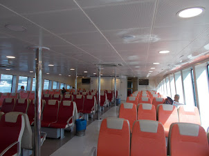 Passenger Ferry boat between Europe and Asia in Istanbul.