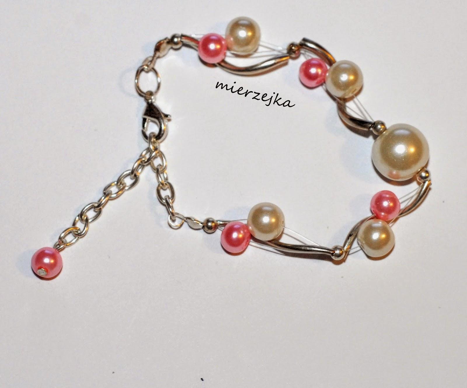 Szkło perłowe – mix bransoletek