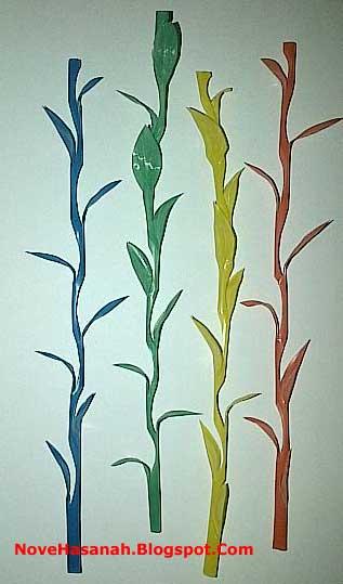 bunga rumput dari sedotan plastik