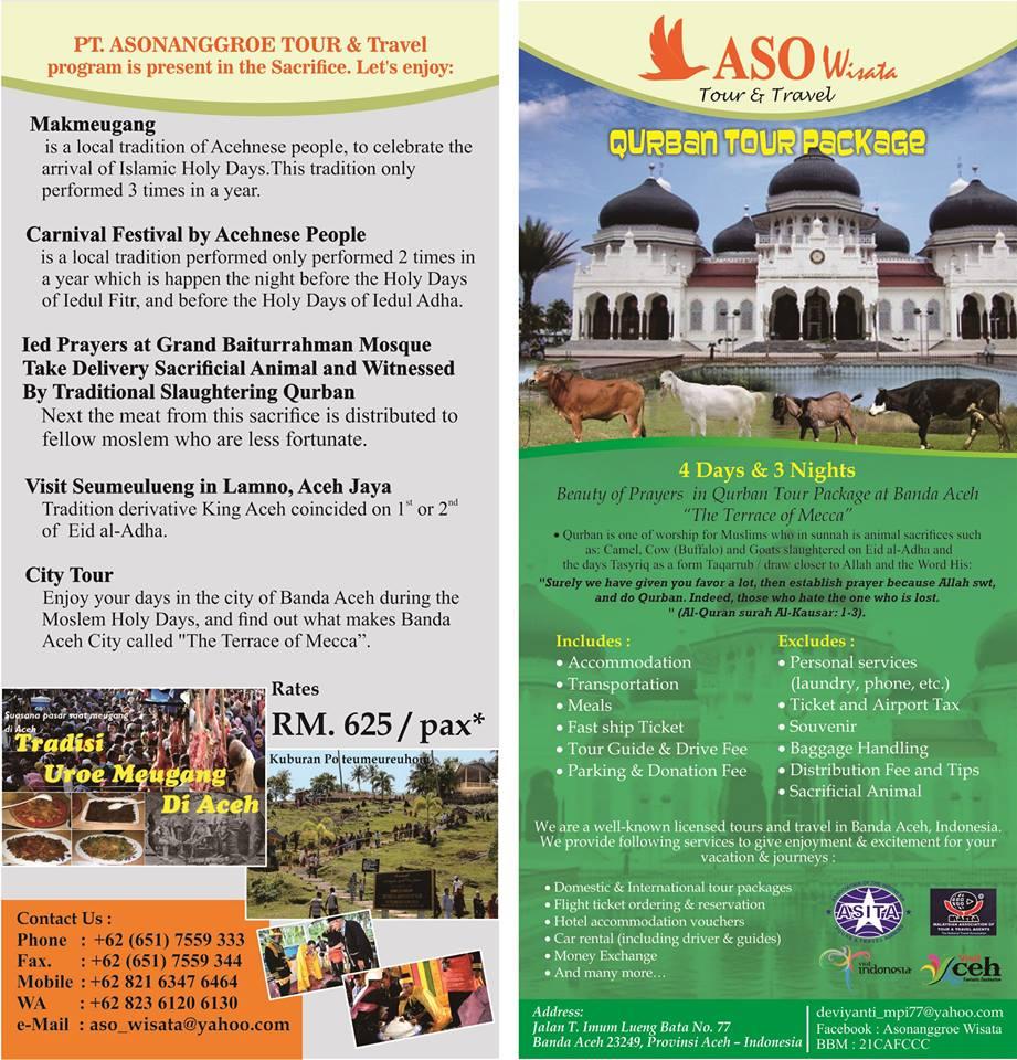 September 2015 Pt Asonanggroe Wisata Tour Travel Paket 3 Negara Ready Qurban