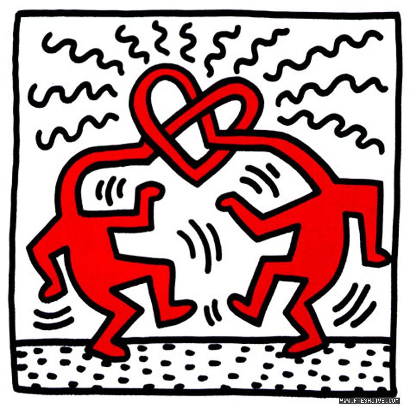 SVIRGOLETTATE: L'amore incondizionato nelle opere di Keith Haring