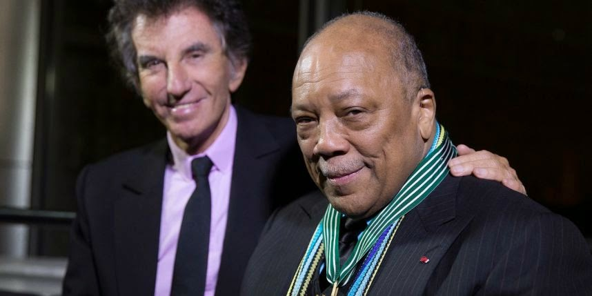 Quincy Jones made a Commander of the Order of Arts and Letters by Jack Lang