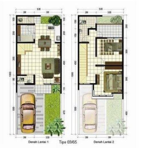 desain rumah minimalis modern type 45