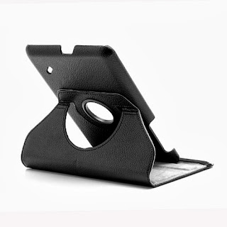 360 Degree Rotary Litchi Leather Case Stand Cover for Acer Iconia Tab B1-A71 - Black