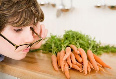carrots and eyesight