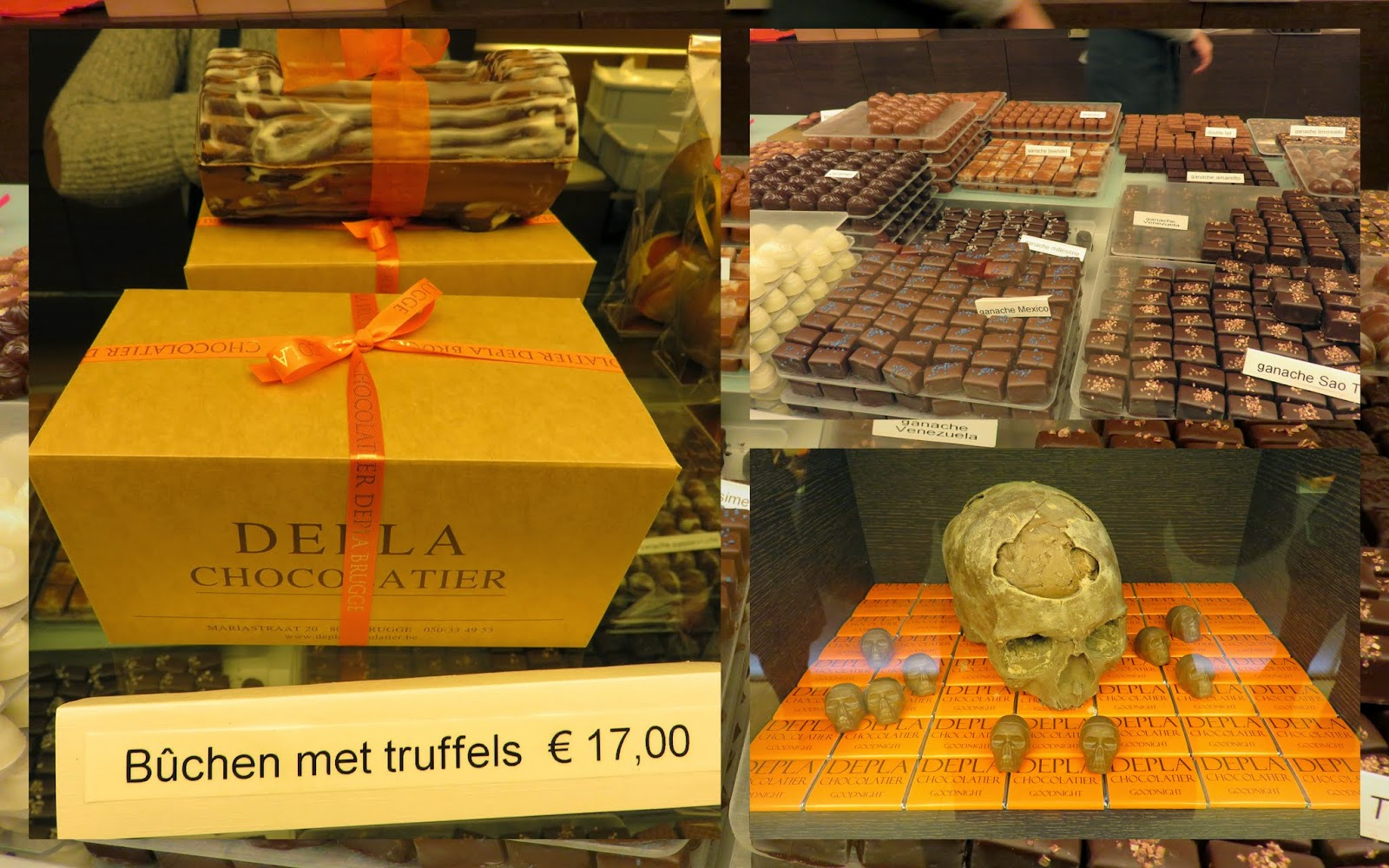 Chocolates at Depla in Bruges