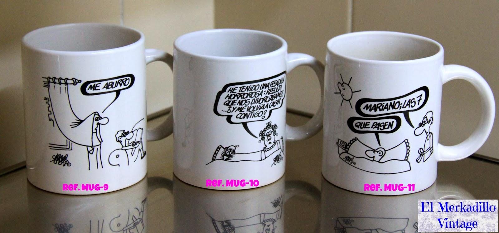 Tazas de cer mica con dibujos de forges vendido el for Tazas para desayuno