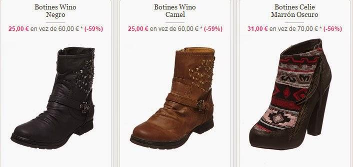 Ejemplos de botines para mujer en oferta de la marca Kaporal