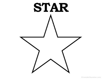 star shape template