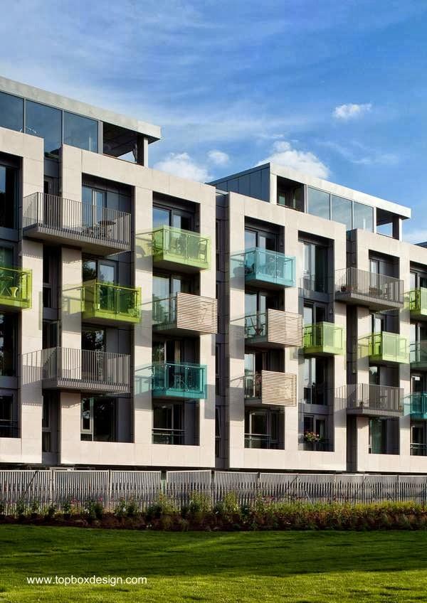 arquitectura de casas sobre los edificios residenciales