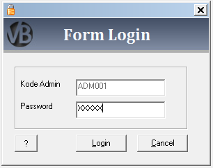 Membuat Form Login VB 6.0 - Visual Basic 6.0 - Belajar VB