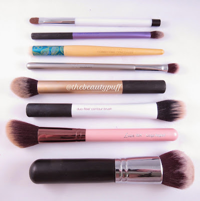 makeup brushes - the beauty puff