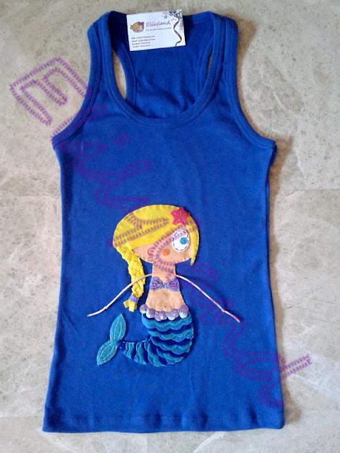 Camiseta Sirena Fieltro a Mano