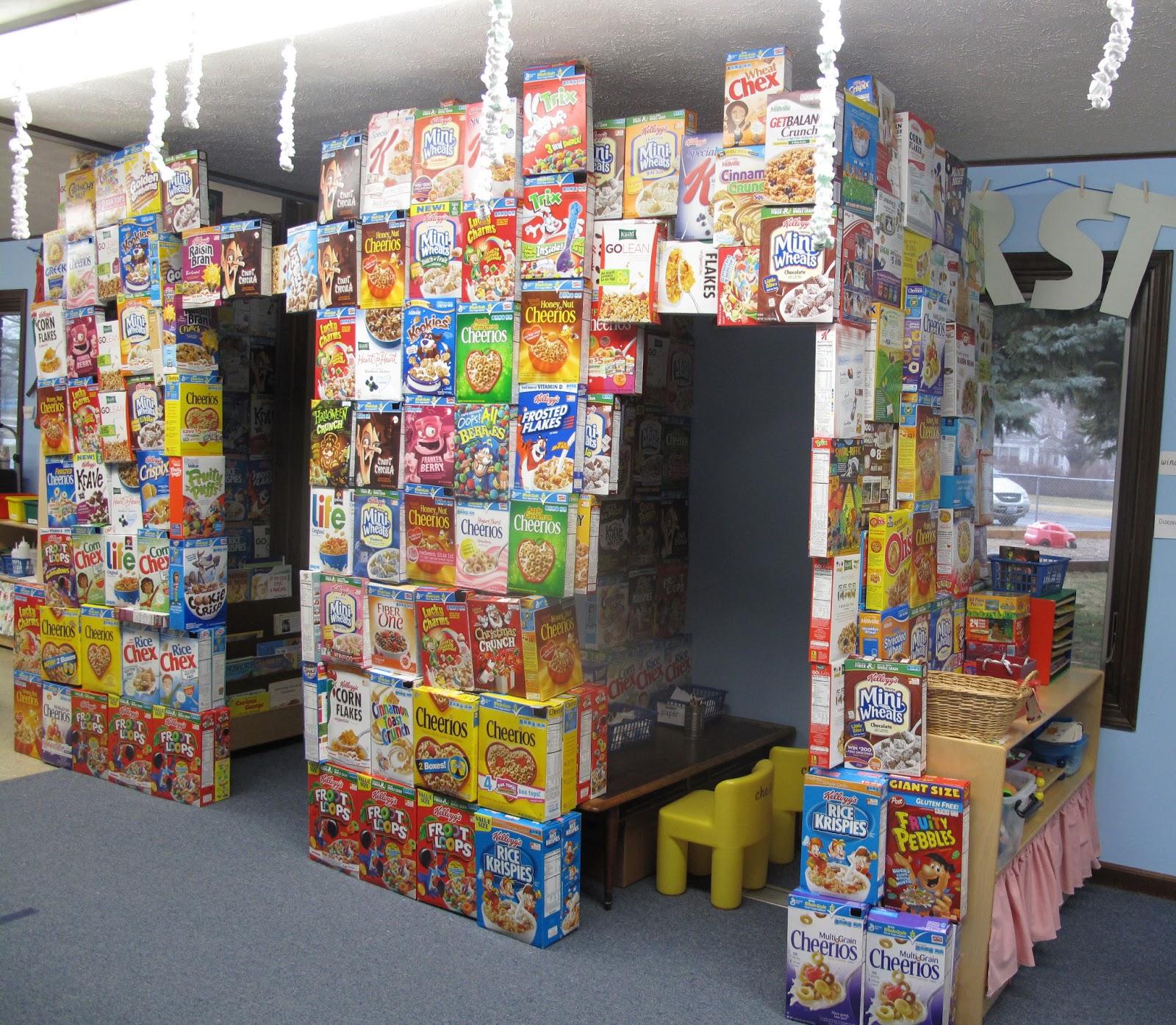 metamora community preschool my impenetrable cereal box fort