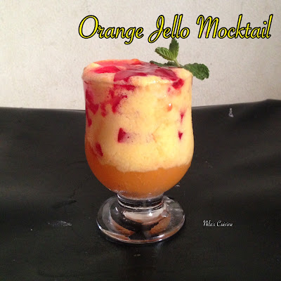 Orange Jello Mocktail