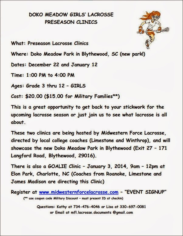 Summit up news 2013 doko meadow girls lacrosse preseason clinics fandeluxe Image collections