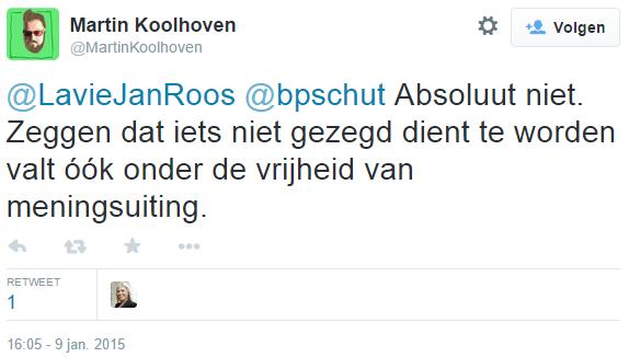 Vrijheid van Meningsuiting is veel te moeilijk voor ze. Deel 1: Jan Roos (@LaVieJanRoos, @PowNed)