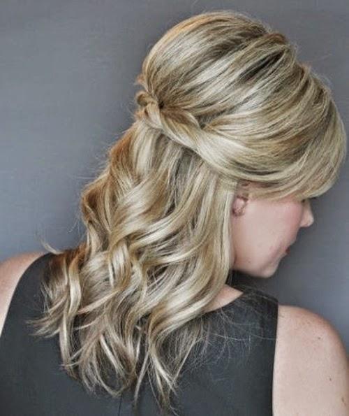 Peinados de novia peinados semirecogidos para fiesta 2015 for Imagenes semirecogidos