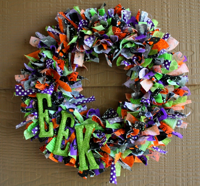 Christy halloween ribbon wreath Making wreaths